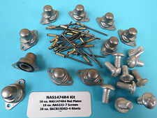1/4-28 Self Sealing S.S. Nutplate Nas1474R4 (10) +Install Kit +Screws & Rivets
