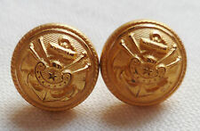 Boutons dorés pour jugulaire casquette AMIRAL MARINE NATIONALE France ORIGINAL 2