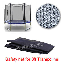 8FT REPLACEMENT TRAMPOLINE SAFETY NET ONLY ENCLOSURE SURROUND 6 POLES UK