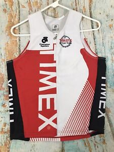 Champion System men's Timex Sleeveless Tank Cycling Bike Shirt Size Medium