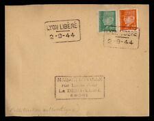 DR WHO 1944 FRANCE LYON LIBERATION SLOGAN CANCEL  g41031