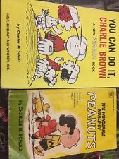 LOT OF 2 You Can Do It, Charlie Brown by 1966-The Wonderful World Of Peanuts1967