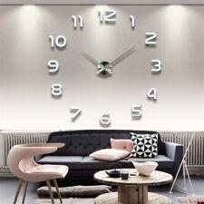 2020 New Wall Clocks 3D DIY Clock Acrylic Mirror Stickers Home Decoration