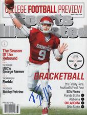 Trevor Knight Oklahoma Sooners Football SIGNED Sports Illustrated 8/18/14 NL COA