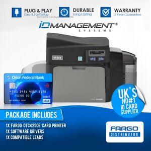 Fargo DTC4250e Dual Sided Card Printer • Free UK Shipping • 5000+ Sold