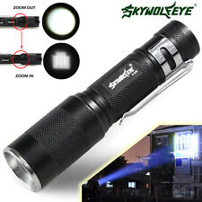 Zoomable 6000 LM CREE XM-L T6 LED 18650 Flashlight 3 Modes Torch Lamp Light