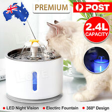 LED USB Automatic Electric Pet Water Fountain Dog/Cat Drinking Dispenser/filter