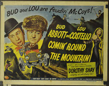 COMIN' ROUND THE MOUNTAIN 1951 ORIG 22X28 MOVIE POSTER BUD ABBOTT LOU COSTELLO