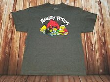 Angry Birds XL Dark Gray T-Shirt Unisex SS Graphic Print Cotton Polyester