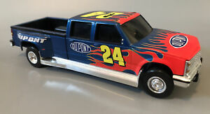 Chevy Dually 1 ton Jeff gordon 1:24 Truck Bank crewcab dupont action Flames 🔥