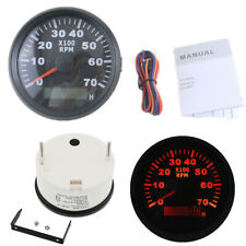 85mm LCD Digital Tachometer Gauge 7000RPM With Hourmeter REV Counter Red Backlit