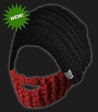 7381926b872 Beardo Beard Beanie Hat - Ginger Red - Bearded Knit Hat Warm Winter Cap
