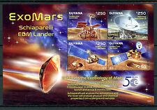 Guyana 2016 MNH ExoMars Schiaparelli EDM Lander 4v M/S Mars Space Stamps
