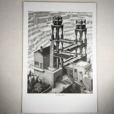 "M C Escher Print Framable Lithograph Waterfall 1961 Approx 9"" X11"" Viewable"