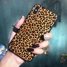 Shockproof Leopard Print Bling Tempered Glass Cover Case For iPhone XS Max 8Plus