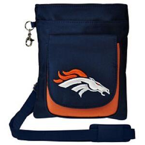 New NFL Travel Hipster Crossbody Bag Licensed DENVER BRONCOS Embroidered Logo