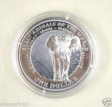 Fiji Coin 1 Dollar 2009 UNC, Great animals of the World - Elephant