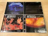 METALLICA 4 CD Lot - Ride The Lightning - Black Album - Load - ReLoad