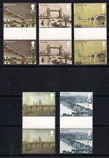 GB mint stamps - 2002 Bridges of London, Gutter Pairs, 2309/2313, MNH