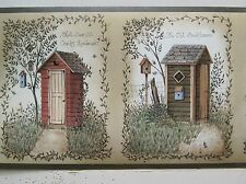 """COUNTRY OUTHOUSES  Wallpaper Border 6 7/8"""""""