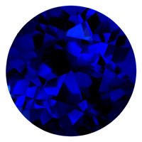 Real Russian Synthetic Lab Blue Sapphire AAAA Round Loose Gem (2mm - 8mm)