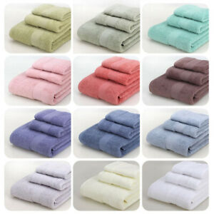 3-Piece Towels Set Square Towel & Soft Towel & Bath Towel Absorbent Multicolored