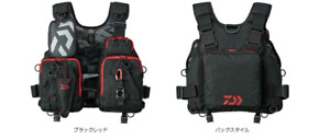 Daiwa Floating Vest Float Game Black Red DF-6206 Free Size Japan New