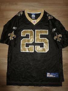 Reggie Bush #25 New Orleans Saints NFL Black Edition Reebok Jersey LG L mens