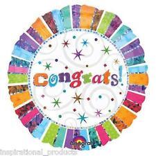 "Anagram CONGRATULATIONS Congrats Exam Wedding Day Round Foil Helium Balloon 18"""