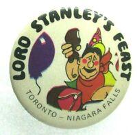 1960s Vintage Pinback Pin Button Lord Stanley's Feast Toronto Niagara Falls