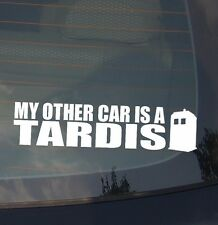 """My Other Car Is a Tardis Funny Jdm Low Drift Racing Dope Decal Sticker 7"""""""