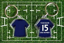 SCOTLAND personalised rugby shirt keyring. Your own name and number. World Cup