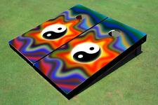 Groovy Ying Yang Custom Cornhole Board