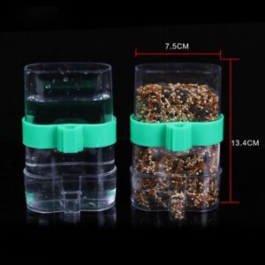 Automatic Bird Feeder Bird Cage Water Drinker For Finch Canary Budgie Plastic