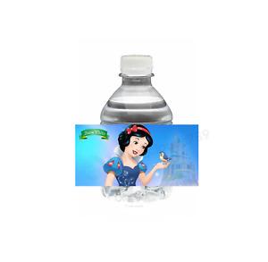 "20 Snow White Princess Water Bottle Label 2"" x 4"" Birthday Party Favor Treat Bag"