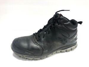 Reebok Sublite Cushion Work Shoe, Black, Men's Size 10.5M Alloy Safety Toe Boot