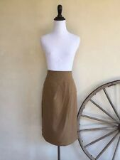 GUCCI Tan Camel High Waisted Pleated Detail Knee Length Pencil Skirt Italy 46