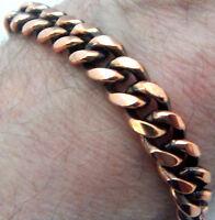 Copper Bracelet 9 1/2  Linked Wheeler Sciatica Arthritis Healing Folklore cb 291