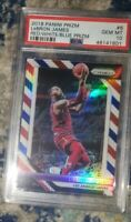 2018-19 Panini Prizm LeBron James Red White Blue Prizm #6 PSA 10 Gem Mint