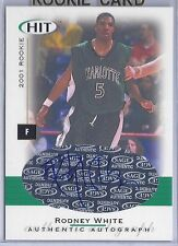 2001 Sage Hit Basketball Rodney White Autographed UNC Charlotte Rookie Card
