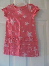 NWT Baby Girls Joe Fresh Short Sleeve Pink Star shaped knee length dress sz 1