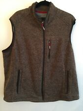 XXL Orvis Men's Zip Up Outerwear Vest Brown Marled Knit Heather