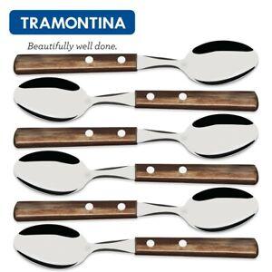 TRAMONTINA ® 6 Stück Suppenlöffel Esslöffel Speiselöffel Löffelset 21103490