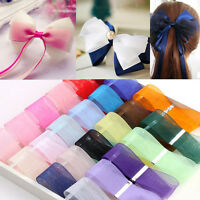 "50 Yards 3/8"" 9mm Satin Edge Sheer Organza Ribbon Bow Craft Decoration Gifts"