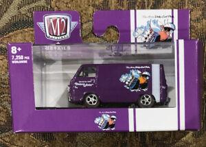 2021 M2 Machines Auto-Shows R66 Purple 1964 DODGE A100 PANEL VAN SCAT PACK FEVER