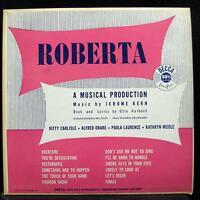 JEROME KERN MUSICAL roberta LP Mint- DL 8007 Mono 1st Decca Vinyl 1949 Record