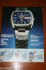 AZ21=1972=SEIKO OROLOGIO WATCH=PUBBLICITA'=ADVERTISING=WERBUNG=