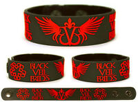 BLACK VEIL BRIDES Rubber Bracelet Wristband The Story of the Wild Ones Red