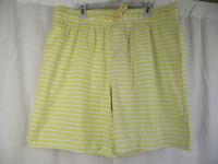 BNWT Mens Sz XX Large Very Smart Yellow Stripe Elastic Waist Swim Board Shorts