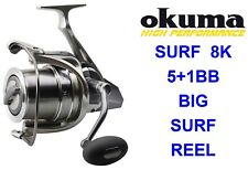 Okuma Surf 8k Sea Reel Long Distance Casting Spinning Spod Marker Rod Fishing